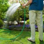 manguera ahorro agua jardin