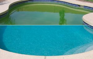 Qu tenemos que hacer en la piscina despu s de una tormenta veraniega el blog de los mejores - Agua de piscina verde ...